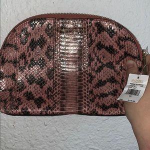 Michael Kors travel pouch genuine snake